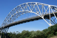 Bridge over the Cape Cod canal. Royalty Free Stock Image