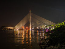 Bridge over the Chao Phraya, Bangkok, Thailand Stock Photos