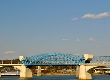 Bridge Over Chattanooga River Stock Images