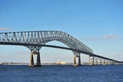 Bridge over the Chesapeake Bay Stock Photos