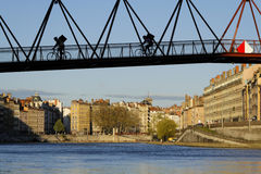 Bridge over the city Stock Photography