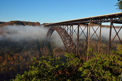 The bridge over the clouds. In West Virginia Stock Photos