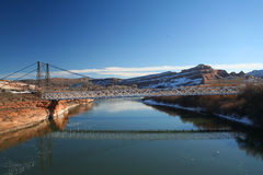 Bridge over the Colorado River Royalty Free Stock Photography