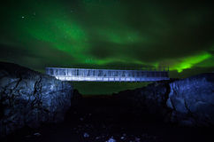 Bridge over the continents. Image of the bridge over the continents at Reykjanes peninsula in Iceland royalty free stock images