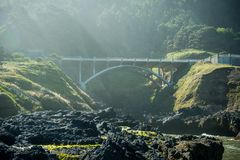 Bridge Over Cooks Chasm. Along Pacific Coast Royalty Free Stock Images