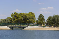 Bridge over Cortez Lake, Phoenix, AZ Stock Image