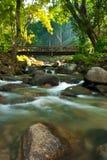 Bridge over the creek. Royalty Free Stock Image