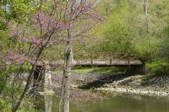 Bridge over creek Stock Photo