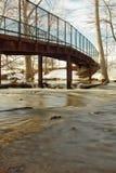 Bridge over creek. Foot bridge over a creek in Kent County MI Royalty Free Stock Photos