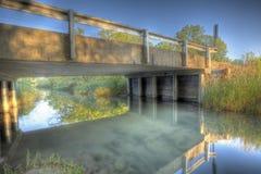 Bridge over creek HDR Stock Photos