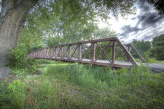 Bridge over creek HDR royalty free stock images