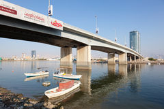 Bridge over the creek in Ras Al Khaimah Stock Image
