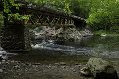 Smoky Mountains Bridge Royalty Free Stock Images