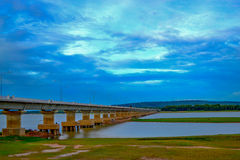 Bridge. Over cross a dam Royalty Free Stock Photography