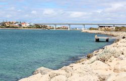 Bridge over the Cut at Port Bouvard West Australia. The Bridge over the Cut at Port Bouvard West Australia is necessary to allow access to the thriving Mandurah Stock Photography