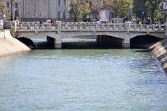 Bridge over dambovita river Royalty Free Stock Photo