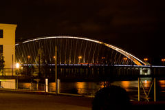 Bridge over Danube in Bratislava Stock Image