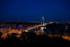 Bridge over Danube in Bratislava Stock Photography