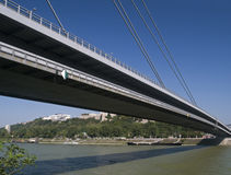 BRIDGE OVER THE DANUBE RIVER, BRATISLAVA Stock Image