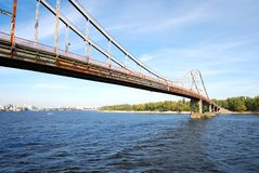 Bridge over the Dnieper river Royalty Free Stock Photo