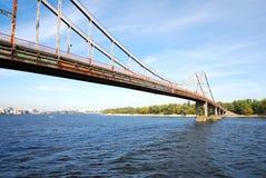 Bridge over the Dnieper river Royalty Free Stock Photo