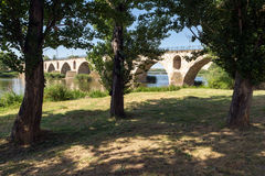 Bridge over Douro river in Zamora Stock Photo