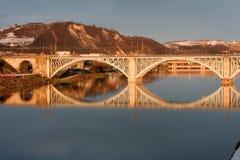 Bridge over the Drava Royalty Free Stock Photos