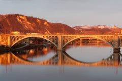 Bridge over the Drava Royalty Free Stock Image