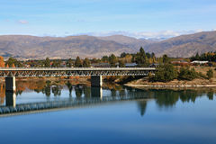 Bridge over dunstan lake Stock Image
