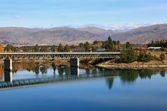 Bridge over dunstan lake Stock Image