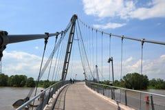 Bridge over the Elbe River Stock Photo