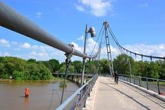 Bridge over the Elbe River Royalty Free Stock Photos