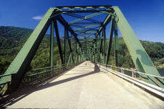 Bridge over Falls Creek, WV along Scenic Highway, US Route 60 Royalty Free Stock Photography