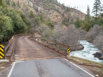 Bridge over the Feather River, Northern California. Old bridge spans the North Fork of the Feather River in Northern California Stock Images