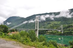 Bridge over fjord Stock Photography