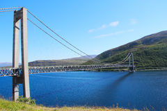 Bridge over Fjord in Norway Royalty Free Stock Photos