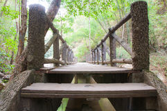 Bridge over a flowing river Royalty Free Stock Photography