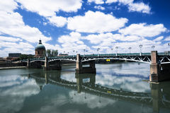 Bridge over Garonne Stock Images