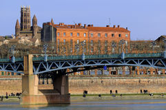 Bridge over Garonne Royalty Free Stock Photo