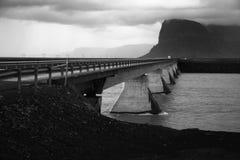 Bridge over glacier river Royalty Free Stock Image