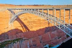 Bridge over the Glen Canyon, Arizona. Bridge over the Glen Canyon connecting the two sides of the Colorado River, Arizona, USA Royalty Free Stock Photo