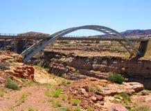 Bridge over Glen Canyon. The Colorado River runs through Glen Canyon in Canyon Rims Recreation Area in southern Utah Stock Photo