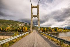 Bridge over the Glomma River, Norway stock photos