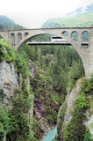 Bridge over a gorge Stock Photography