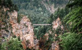 The bridge over the gorge Stock Image