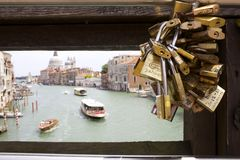 Bridge over Grand Canal Royalty Free Stock Photography