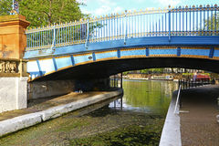 Bridge over Grand Union Canal in London Royalty Free Stock Images