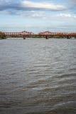 Bridge over Gualeguaychu River, Argentina. Stock Images