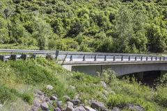 Bridge over the Gunnison river, Paonia State Park, Colorado Stock Photos
