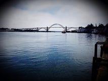 Bridge over Harbor Stock Photos